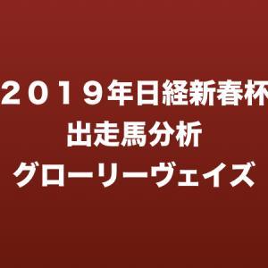 [2019年日経新春杯出走馬分析] グローリーヴェイズ