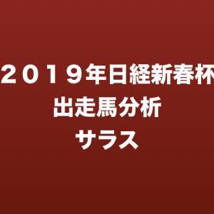 [2019年日経新春杯出走馬分析] サラス