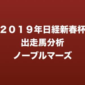 [2019年日経新春杯出走馬分析] ノーブルマーズ