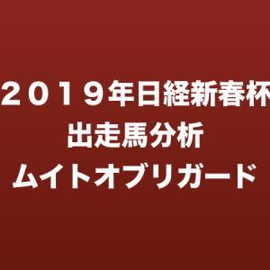[2019年日経新春杯出走馬分析] ムイトオブリガード