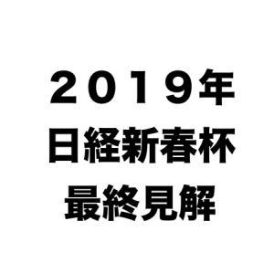 [2019年日経新春杯] 最終見解