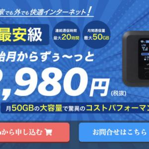 【ExWi-fi】無制限なんて必要ない?50GBでお得なポケットWiFi