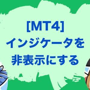 MT4のバックテスト(テスター)でインジケータを表示しない方法