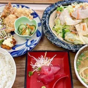 やちむん食堂-豆腐チャンプルーセット¥820円|八重瀬町伊覇