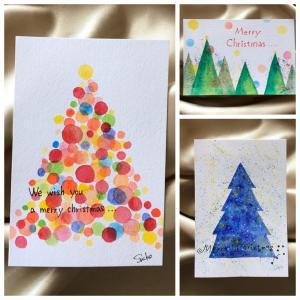 オリジナルのクリスマスカード一緒に作りませんか?
