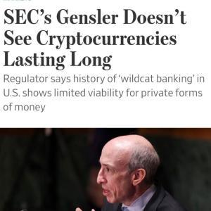SEC長官「仮想通貨はオワリ」→本当?もう売り?