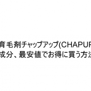 育毛剤チャップアップ(CHAPUP)の効果と成分、最安値でお得に買う方法を解説。