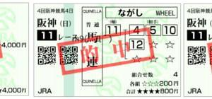 2019ローズステークス結果(馬連1600円,ワイド560円,複勝280円的中)