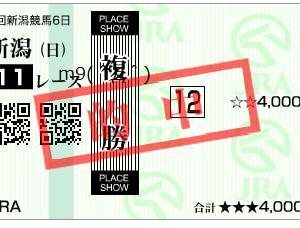 2019ルミエールオータムダッシュ結果(複勝330円的中)