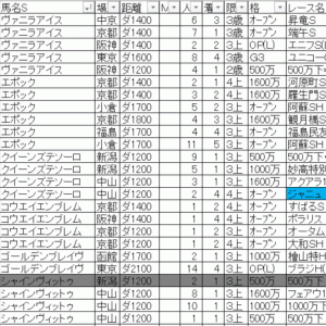 2019オータムリーフステークス TEKIKAKU予想