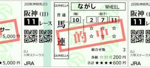 2020六甲ステークス結果(複勝140円,馬連790円,ワイド400円的中)