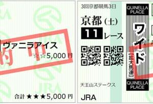 2020天王山ステークス結果(ワイド1300円,1130円(ダブル),複勝270円的中)