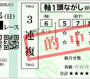 【万馬券的中】天皇賞春結果(3連複13500円的中)