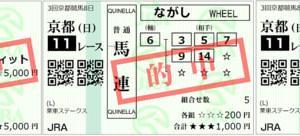 2020栗東ステークス結果(複勝220円,馬連1240円,ワイド520円的中)