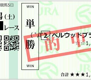 2021ダリア賞結果(単勝360円的中)