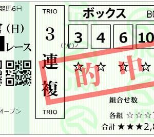 2021小倉日経オープン結果(3連複670円的中)