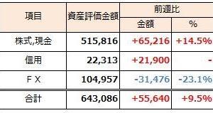2019年2月10日週 資産運用 週次報告(前週比+9.5%)