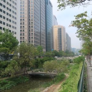 【ソウル2019】空港特急AREXで都市高速を撤去して復元された都市河川「清河渓」を訪問。