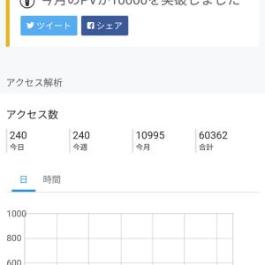 【10995PV】ブログ開設から13ヶ月目のアクセス数と9月投稿分おすすめ記事3選。