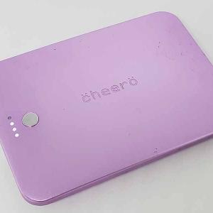 cheeroのモバイルバッテリーは残量表示がデジタルインジゲーターで便利!