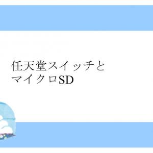 任天堂スイッチとマイクロSD