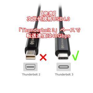 【発表】次世代規格USB4.0「Thunderbolt 3」ベースで