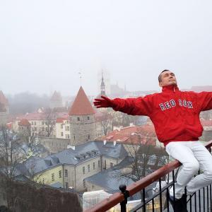 トームペアの丘にある展望台から、曇りのタリン旧市街地を眺めるも・・-バルト三国旅行記-34