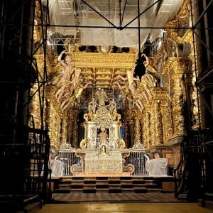 修道院でクッキー購入後にサンティアゴ・デ・コンポステーラ大聖堂内を見学-ポルトガル旅行記-5