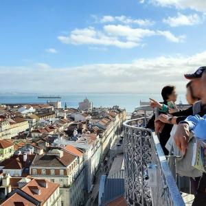 サン・ジュスタのエレベーターの展望台から、リスボン市内の綺麗な景色を眺める-ポルトガル旅行記57