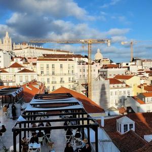 サンタ・ルジア展望台やグラサ展望台から、リスボンの街を眺める-ポルトガル旅行記61