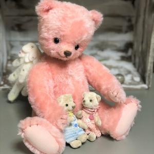 ピンクのクマ天使さん、もう仲良し(^^)