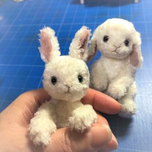 小さなタチミミウサギさんとタレミミうさぎさん(*'∀')