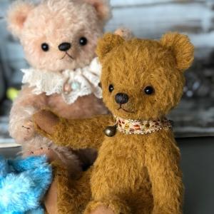 ピンクベージュのクマさんとブラウンのクマさん(*'∀')