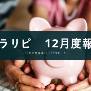 【トラリピ】12月の損益は+6,217円でした