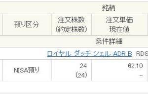 高配当米国株ロイヤルダッチシェルを約16万円分購入したよ!