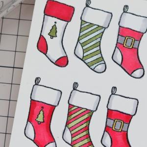 靴下に色塗りしました。【Holly Jolly Christmas】