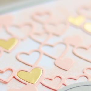 ハート&ピンクはグレーで締めるわ。【Heart to Heart ハート・トゥー・ハート】