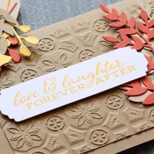 秋の葉っぱのカードとタグの作り方。