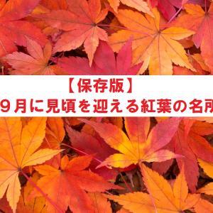 【保存版】9月に見頃を迎える紅葉の名所7選