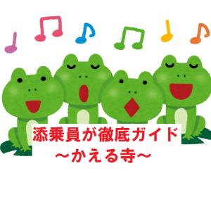 【ツベルクリンWalker】添乗員が徹底ガイド~かえる寺(福岡県)~