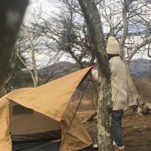 湖畔のソロキャンプin山中湖みさきキャンプ場(2021.1月のw)