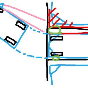 【仮説】バック駐車で車を傾ける目安は内側でなく外側後輪か角では?