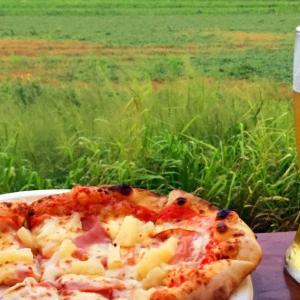 美味しいピザとビール