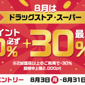 d払いお買物ラリー開催中!2020年8月3日(月)から最大+30%還元特典
