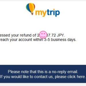 返金キターッ!新型コロナでの航空券キャンセル、返金連絡までは10週間でした(Mytrip/Gotogate)