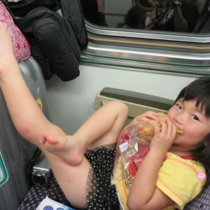 台中から嘉義へ向かう特急列車の中で、サーモンの寿司が飛んだ!(0歳&4歳:子連れ台湾周遊旅 ♯25)