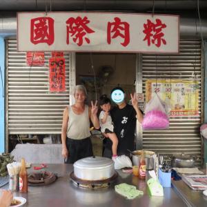 嘉義の朝食は、蒸したて熱々のチマキの屋台で(0歳&4歳:子連れ台湾周遊旅 ♯26)