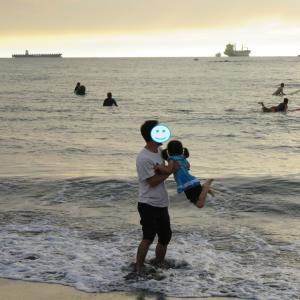 高雄:籏津で11月の海遊び&大道芸人さんの受難(0歳&4歳:子連れ台湾周遊旅 ♯46)