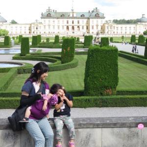 ドロットニングホルム宮殿の庭園をベビーカーで攻略(1歳&4歳:子連れスウェーデン・フィンランド・エストニア旅 ♯16)