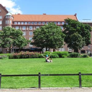 フィンランド:ヘルシンキの公園で、上半身裸になって日光浴(1歳&4歳:子連れスウェーデン・フィンランド・エストニア旅 ♯31)